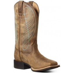 STIVALI WESTERN DONNA ARIAT ROUND UP WIDE SQUARE TOE H2O