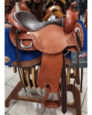SELLA WESTERN FREEMAX SHORT BACK COW LEATHER MIS. 17