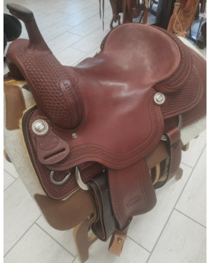 SELLA WESTERN BILLY COOK HIGH CUSTOM CUTTER  MIS. 16,5